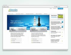 Website design for Lincoln Indicators. Design by Blunt Agency