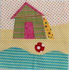 Wonky Beach House quilt block