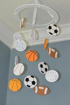 Sports Baby Mobile - Lil' Champ - Flutter Bunny Boutique, LLC - 2