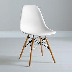 chaise dsw - charles eames - tissu - coque blanche | new flat ... - Chaise Dsw Charles Eames