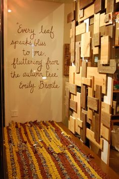 """emily bronte - """"every leaf speaks bliss to me, fluttering from the autumn tree."""""""