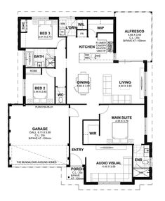 Aveling Homes is an award winning home builder in Perth dedicated to providing customers with quality homes and the highest levels of customer service. House Layout Plans, Small House Plans, House Layouts, House Floor Plans, 3 Bedroom Plan, Circle House, Beautiful House Plans, Perth, Kerala Houses
