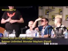 Comic-Con 2015: Batman Unlimited: Monster Mayhem (Panel) - YouTube Will Friedle, Random Things, The Darkest, Batman, Comics, Youtube, Comic Con, Random Stuff