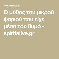 Ο μύθος του μικρού ψαριού που είχε μέσα του θυμό - spiritalive.gr