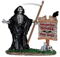 Realty Sign - Lemax Spooky Town Halloween Village Accessory U$2.99 - 2013