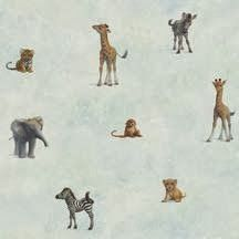 Jungle Wallpaper for a Nursery from the Totally for Kids Collection.