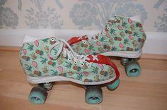 Watermelon Fruit Print Roller Skates Vintage Retro 80s 90s Size 7   eBay