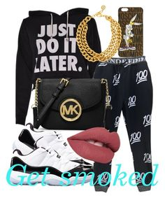 Get smoked #158 by skittles-twerk2 on Polyvore featuring polyvore, fashion, style, Concord, MICHAEL Michael Kors, Ben-Amun and Moschino