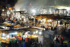 Marrakech, Morroco night market----Magical experience!