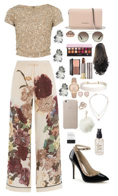 """Untitled #15"" by danijenae on Polyvore featuring Valentino, Alice + Olivia, Givenchy, Prada, Anastasia Beverly Hills, Urban Decay, Michael Kors, Humble Chic, Monica Vinader and Bloomingdale's"