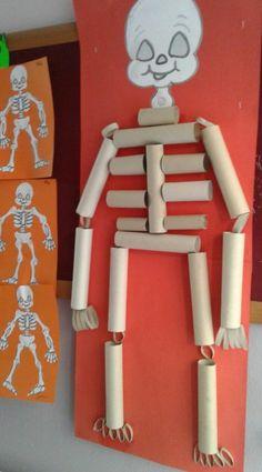 Halloween Crafts For Kids, Holiday Crafts, Skeleton Craft, Bee Nursery, Masque Halloween, Diy And Crafts, Arts And Crafts, Preschool Crafts, Preschool Activities