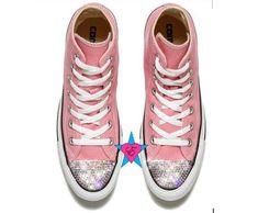 348125e42e2 Custom Crystal Bling Rhinestone Pink Converse Chuck Taylor Converse Chuck  Taylor 2, Pink Converse,