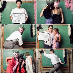 photobooth ideas-Like the chalk board idea-could maybe borrow it from a school for free?