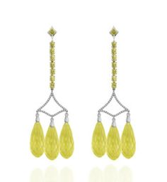 Badgley Mischka Yellow Earrings