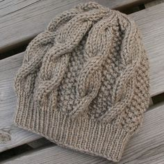 CABLE SLOUCHY HAND KNITTED SLOUCHY HAT Pattern Design/Images Copyright Cappelli Hats 2014 Size One size fits average teens/womens head - hat