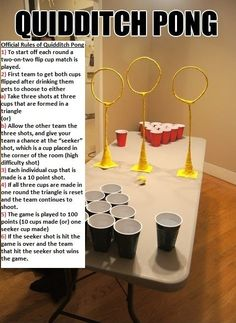 Quidditch Pong: FIVE POINTS TOO RAVEN CLAW...seriously only the smart ones would make such a complicated drinking game!!!
