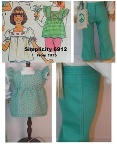 19741122 American Girl Doll Clothes Outfit Julie by terristouch