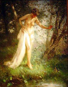 Lillian Matilde Genth- Whispering June (oil on canvas)