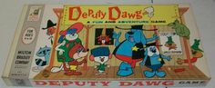 """DEPUTY DAWG - 1960  """"A fun and adventure game"""" Vintage Board Game.  www.BrassTacksEvents.com www.facebook.com/BrassTacksEvents www.twitter.com/BrassTacksEvent"""