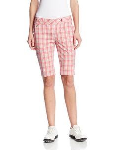 Sport Haley Womens Plaid Shorts Multi 12 ** Want additional info? Click on the image.