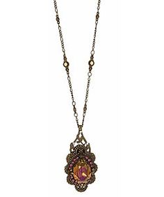 Sorrelli Vintage Style Swarovski Crystal Pendant Necklace