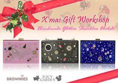 Juicy Garden- Browniies Acrylic Glitter Treasure Box Christmas workshop-DIY your bag.