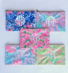 tinytulip.com - Lilly Pulitzer Monogrammed Pencil Cosmetic Case First Impressions, $28.50 (http://www.tinytulip.com/lilly-pulitzer-monogrammed-pencil-cosmetic-case-first-impressions/)