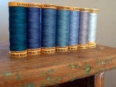 line 'em up in blue