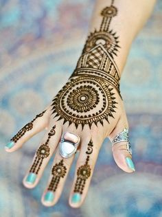 Round Mehndi Designs: The blog on this has some pretty good stuff.