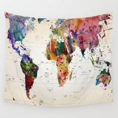 map Wall Tapestry by Mark Ashkenazi