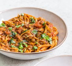 Deliciously Ella's lentil bolognese Deliciously Ella& lentil bolognese & Healthy Food Guide The post Deliciously Ella's lentil bolognese & Meatless meals appeared first on Delicious . Lentil Recipes, Veggie Recipes, Vegetarian Recipes, Cooking Recipes, Healthy Recipes, Recipe Using Lentils, Ella Vegan, Deliciously Ella Recipes, Healthy Eating