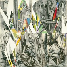 Krasner, Lee (American, 1908 - 1984.)   Imperative.  1976.  Oil, charcoal and paper on canvas,  overall: 127 x 127 cm (50 x 50 in.,) framed: 131.1 x 131.8 x 5 cm (51 5/8 x 51 7/8 x 1 15/16 in.)  National  Gallery of ARt, Washington, D.C.