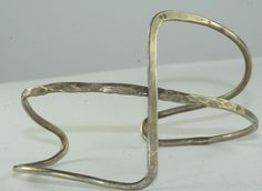 EARLY VINTAGE PHYLLIS JACOBS MODERNIST STERLING SILVER CUFF BRACELET #HANDMADEBYPHYLLISJACOBS