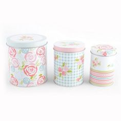 Candy Rose Collection Set of 3 Nesting Tins   Dunelm