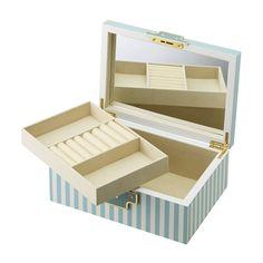 プポネ ジュエリーボックス ブルー Jewelry Box, Cartoon, Decorated Boxes, Crates, Wood, Jewellery Box, Engineer Cartoon, Jewelry Storage, Comic