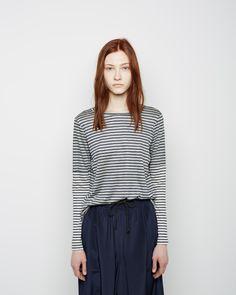 Organic by John Patrick Striped Long Sleeve Combo Tee | La Garçonne
