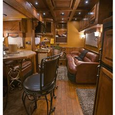 can you believe this is a horse trailer???beautiful Living Quarters