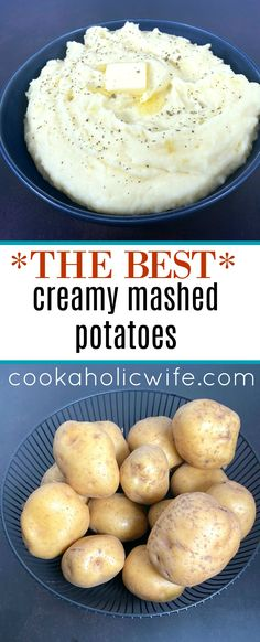 The best homemade mashed potatoes! They're creamy, perfect and delicious. And they're the best side dish for just about everything. #homemademashedpotatoes #mashedpotatoes #bestmashedpotatoes