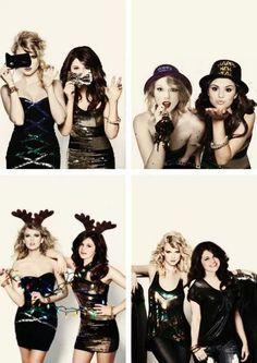 Taylor Swift and Selena Gomez.... I love selenaaaaa
