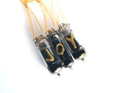 Vacuum Tube Christmas Ornament  Golden Joy by MadScientistsDesigns, $12.00