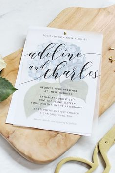 Make your own beautiful floral wedding invitations with nothing more than some vellum paper, a few sheets of cardstock and a home printer. #weddinginvitation