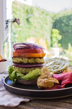 Zucchini Fritter Veggie Burger *Gluten Free* | This Mess is Ours