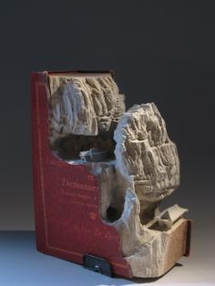 Guy Laramee makes gorgeouuus mountains and plateaus out of old books & encyclopedias!