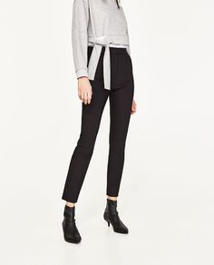 Image 2 of HIGH WAIST SKINNY TROUSERS from Zara