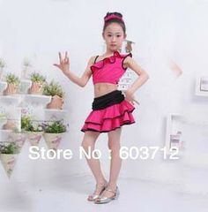 In stock  Girls dress Latin dance child Latin dress ballet dance dress Free shipping MOQ 1SET Girls Costumes-in Dresses from Apparel & Acces...