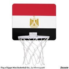 Flag of Egypt Mini Basketball Goal Mini Basketball Hoops