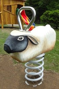Themed kid's playgrounds from robinia wood. Garden Hose, Playground, Sheep, Garden Sculpture, Swings, Christmas Ornaments, Holiday Decor, Outdoor Decor, Home Decor