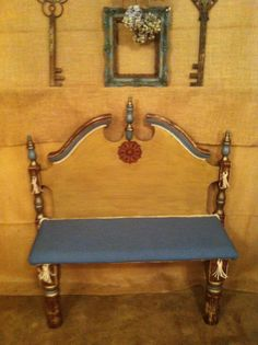 Rustic Headboard Bench by antique2chic on Etsy, $275.00