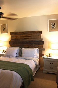 Make Your Own Rustic Headboard | Bedroom Ideas Pictures