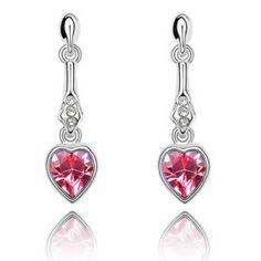 Swarovski crystal earrings cherish love  From Crystaljewelryuk.com